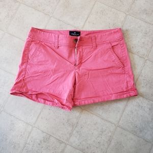 Woman's size 4 American eagle shorts midi pink